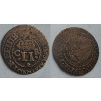 Двойной пенни 1632-1633 г первая медная монета