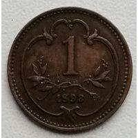 Австрия 1 геллер 1893