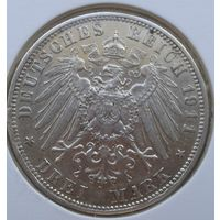 З марки, германия, бавария 1911