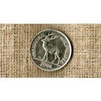 Маврикий 1/2 рупии 2004 /олень/фауна/(ON)