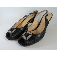 Туфли открытые женские на каблуке Ellenka Collection! Как новые!