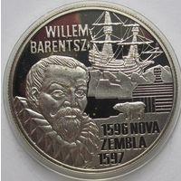 Нидерланды, 20 евро, 1996, серебро, пруф