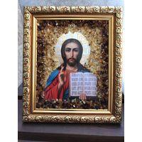 Икона-Декор натуральный балтийский янтарь - 14х 16 см