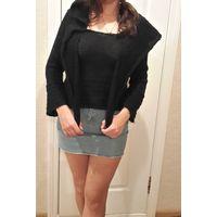 Теплый черный свитер