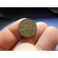 5 грошей 1928 г. Речь Посполита (3)