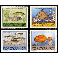 1994 Фарерские острова 256-259 Морская фауна 7,50евро