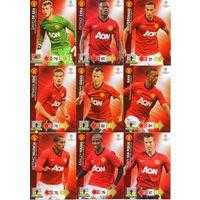 Полный базовый сет Манчестер Юнайтед по коллекции PANINI Лига Чемпионов УЕФА 2012-2013. Adrenalyn XL.