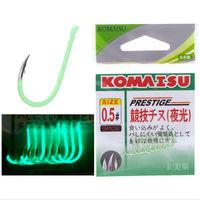 Рыболовные крючки  komaisu noctilucous светящиеся неоновые номер #0,8  (20)