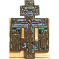 Распятие Христово с предстоящими - Эмали-3 цвета!!   16.4 х 11