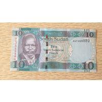 Южный Судан 10 фунтов 2016 UNC