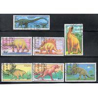 Динозавры Монголия 1990 год серия из 7 марок