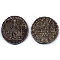24 мариенгроша 1766, Германия, Брауншвейг. Красивое коллекционное состояние
