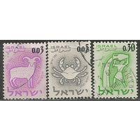Израиль. Знаки Зодиака. 1962г. Mi#249-51. Серия.