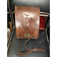 Старая сумка-планшет кожаная командирская. Польская?