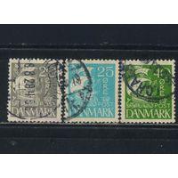 Дания 1927 Вып Каравелла Гладкий фон Стандарт #169,170,173