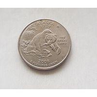 25 центов США 2008 г. штат Аляска  D
