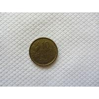 10 франков 1952 Франция KM# 915.1 алюминиевая бронза