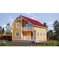 Каркасный Дом под ключ 8х8 по проекту Лахти в Волковыске