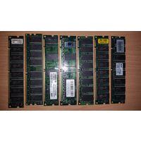 Оперативная память от старых компьютеров, в основном по 128мБ, тестировались давно, но были рабочими.