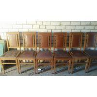 Набор из шести стульев столовых деревянных 50-е годы СССР