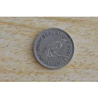 Новая Зеландия 6 пенсов 1956