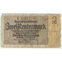Германия, 2 рентмарки 1937 год.