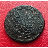 Деньга 1759 Супер сохран для этой монеты! Передатировка даты! Шерстяной конь все это редкость для Деньги Елизаветы!