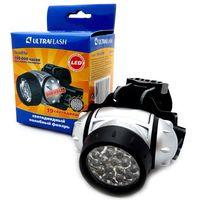 Фонарь налобный Ultraflash LED 5353 ( фонарь налобн, металлик, 19 LED, 4 реж, 3XR03 ).