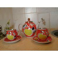 """Чайный набор """"Яблоки"""", Полонное, 80-е."""