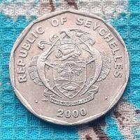 Сейшельские острова 5 рупий 2000 года. Пальма. Герб Сейшел. Миллениум.