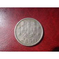 2.5 эскудо 1980 год Португалия