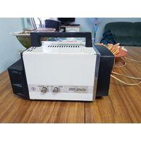 """Телевизор автомобильный  """"Электроника ВЛ-100"""" (ПТ-16-IV-1), переносной кинескопный, звук есть, изображения нет, блок питания выдаёт 20 вольт, нет оригинального барашка для переключения передач. . Опис"""