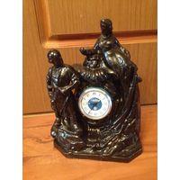 Часы настольные 2шт(цена за пару)-маяк,хозяйка медной горы