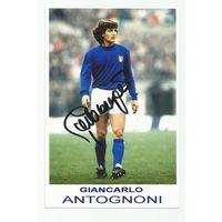 Giancarlo Antognoni(Италия). Живой автограф на фотографии.