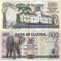 Уганда 500 шиллингов образца 1996  года UNC p35a