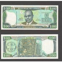Банкнота Либерия 100 долларов 2011 UNC ПРЕСС