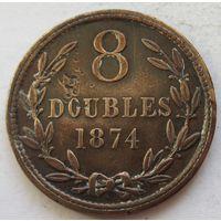 Гернси 8 дублей 1874