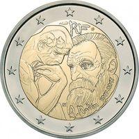 2 евро 2017 Франция Роден UNC из ролла