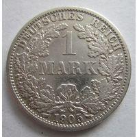 Германия. 1 марка 1905 A. Серебро . 115