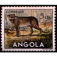Кошки. Ангола. 1953. Леопард. Марка из серии. Чистая