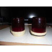 Два плафона для мигалок ( красные)