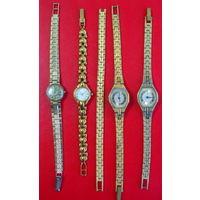 Часы женские позолоченные, браслеты позолоч. Цена за 1шт