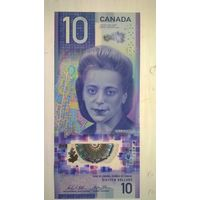 Канада 10 долларов 2018 г