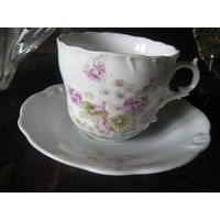 Чашка тарелка Германия 19 век