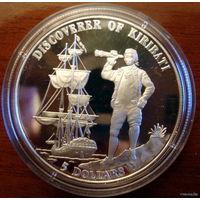 Кирибати 5 долларов 1996, серебро, пруф