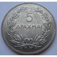 Греция 5 драхм 1930 года