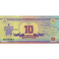 ТОРТУГА 10 ЭСКАЛИН 2014г. UNC. распродажа