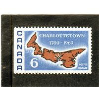 Канада.Ми-441.Карта острова Принца Эдуарда. Серия: 200 лет Шарлоттауне -столице П.Е.И.