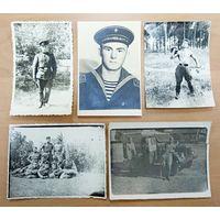 Фото военных 5 шт, 50-60 годы. БЕСПЛАТНАЯ ДОСТАВКА