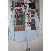Рубашка джинсовая яркая Boxer Р-р 50-52